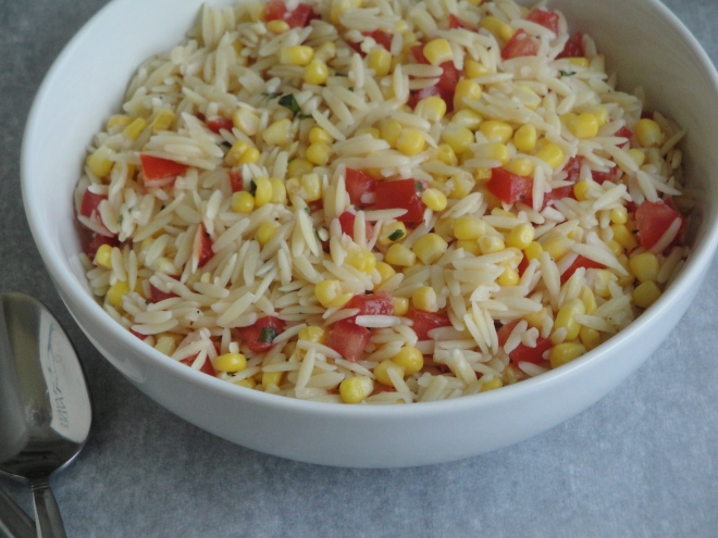 Orzo Salad with Corn, Tomatoes, and Basil | A Fork In Each ...