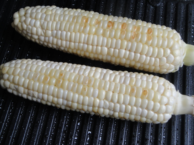 Grilled Corn, Poblano, and Black Bean Salad   A Fork In ...