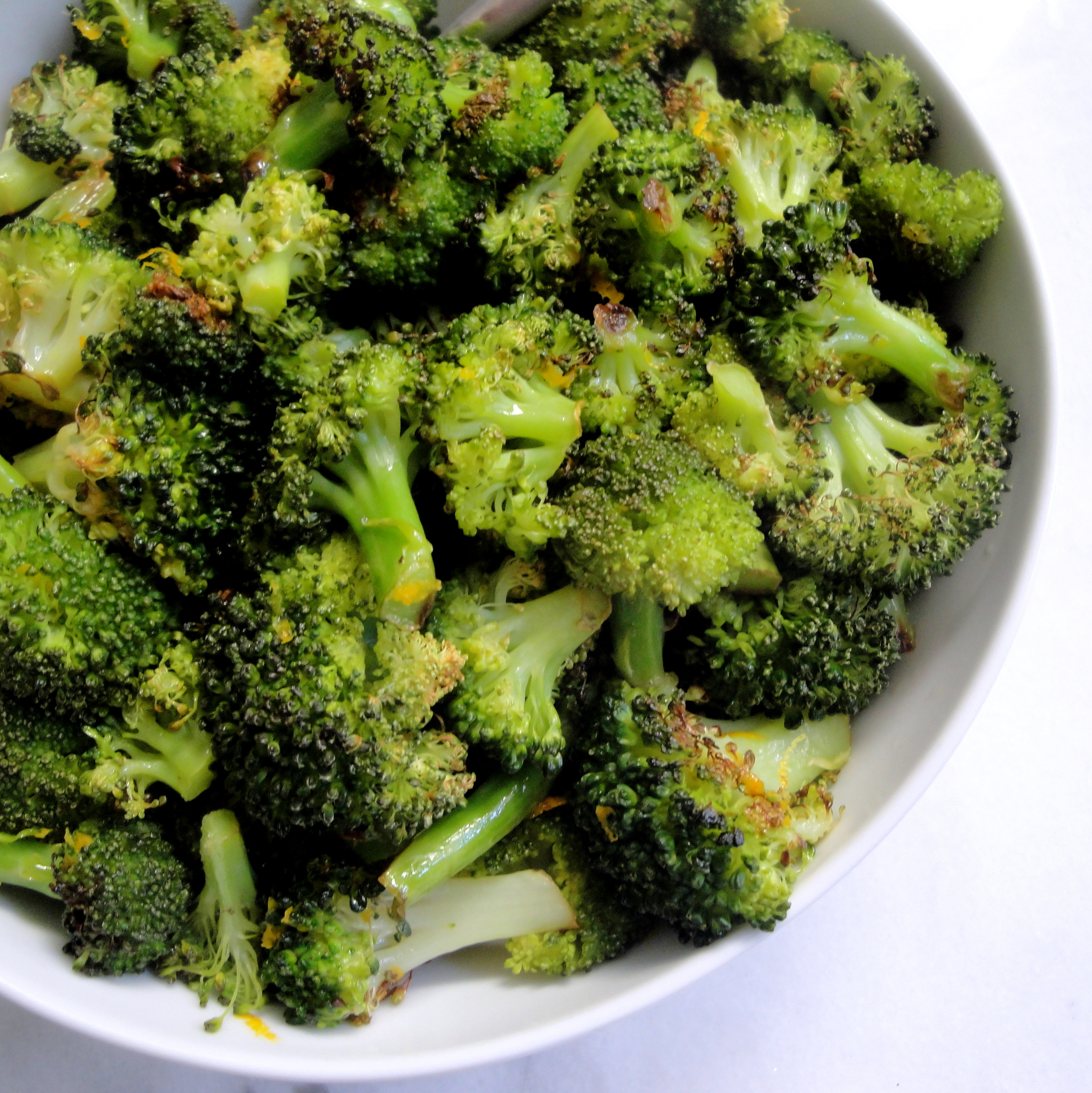 Charred Broccoli with Orange Browned Butter | A Fork In Each Hand